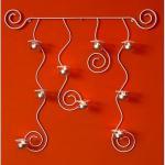 Wandteelichthalter Lysa Weiß Wandkerzenhalter aus Metall 74cm Teelichthalter