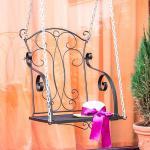 Hängesessel Relax Schaukel mit Ketten Hängebank Gartenschaukel Hollywoodschaukel