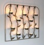 Wandteelichthalter 10-0370 Wandkerzenhalter aus Metall 53cm Teelichthalter
