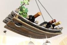 Weinregal 5089 Deckenregal aus Holz 65cm Hängeregal Flaschenhalter Flaschenregal