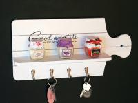 Schlüsselboard mit Ablage 21254 Schlüsselkasten Memoboard 40cm Schlüsselleiste