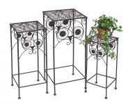Blumenhocker Eule 140193 3er Set 50-60-70cm Blumenständer Pflanzenständer Hocker Beistelltisch Blumensäule