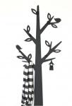 DanDiBo Wandgarderobe Metall Schwarz Baum Garderobe 130 cm 10-1500 Wandpaneel Flurgarderobe Wandhaken Modern