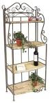 """Regal """"Malega"""" 12060 aus Metall und Holz 150cm Bücherregal Badregal Küchenregal"""