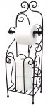 DanDiBo Toilettenpapierhalter Antik Schwarz Metall HX13608 WC Rollenhalter Freistehend Vintage WC Papierhalter