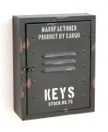 Schlüsselkasten Schlüsselschrank Metall Schwarz 144222 Schlüsselbox Vintage Retro Schlüsselhalter mit Verschluss Design