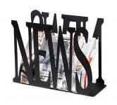 Zeitungskorb NEWS 10-1469 Zeitungsständer aus Metall 35 cm Zeitungshalter