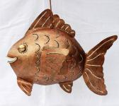 Windlicht Teelicht Fisch Metall Kerzenhalter 45cm
