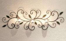 Wandteelichthalter 131003 Teelichthalter aus Metall 75cm Wandleuchter Kerzenhalter
