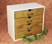 Minikommode Kommode mit 4 Schubladen 12017 Regal 32cm Schmuckkasten Shabby Truhe