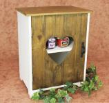 Schrank Minikommode 12021 Küchenschrank Regal 35cm Shabby Küchenregal mit Herz