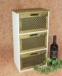 Minikommode Kommode mit 3 Schubladen 12022 Regal 57cm Schrank Shabby Truhe