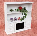 Küchenschrank 12238 Regal mit Notiztafel 55cm Schrank Shabby Buffet Küchenregal