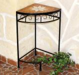 Blumenhocker Merano Mosaik 12013 Blumenständer 62cm Hocker Eckregal Tisch Blumensäule