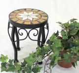 Blumenhocker Merano Mosaik 12014 Blumenständer 20cm Hocker Rund Beistelltisch