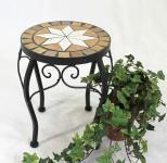 Blumenhocker Merano Mosaik 12014 Blumenständer 27cm Hocker Rund Beistelltisch