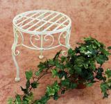 Blumenhocker Romance 25cm Blumenständer 20218 Pflanzenständer Beistelltisch Weiß