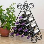 """Weinregal """"Kalina"""" Pyramide aus Metall für 10 Flaschen Flaschenständer Regal"""