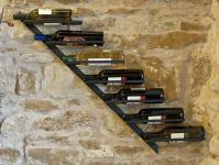 Weinregal Diagon Rechts 100cm aus Metall 21215 Flaschenhalter Flaschenständer Wandregal