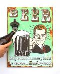 Wandbild Beer mit Flaschenöffner 40cm Bieröffner 21261 Grün Wandflaschenöffner Öffner