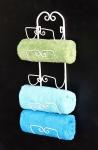 DanDiBo Handtuchhalter Wand Handtuchregal 081220 Wandmontage Antik Weiß Vintage Wandhandtuchhalter Bad Badezimmer