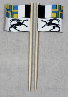 Party-Picker Flagge Graubünden Kanton Schweiz Papierfähnchen in Spitzenqualit...
