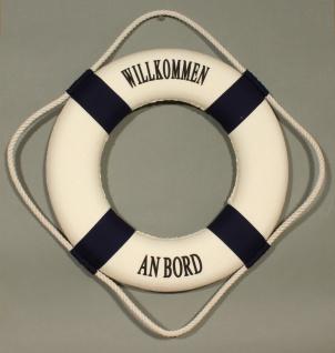 Rettungsring Deko blau 25cm Willkommen an Bord