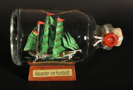 Alexander von Humboldt Mini Buddelschiff 50 ml ca. 7, 2 x 4, 5 cm Flaschenschiff - Vorschau 3