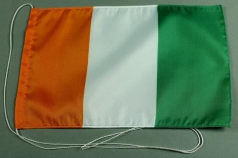 Tischflagge Elfenbeinküste 25x15 cm optional mit Holz- oder Chromständer Tisc...