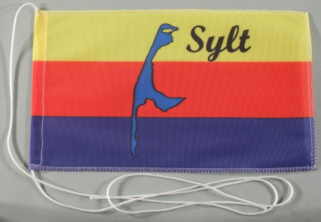 Tischflagge Sylt Nordsee 25x15 cm optional mit Holz- oder Chromständer Tischf...