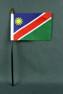 Kleine Tischflagge Namibia 10x15 cm optional mit Tischfähnchenständer