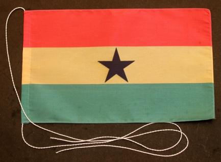 Tischflagge Ghana 25x15 cm optional mit Holz- oder Chromständer Tischfahne Ti...