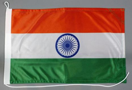 Bootsflagge Indien 30x45 cm Motorradflagge Bootsfahne