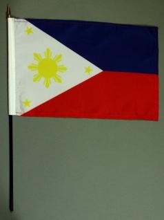 Tischflagge Philippinen 20x30 cm optional mit Tischflaggenständer aus Mahagon...