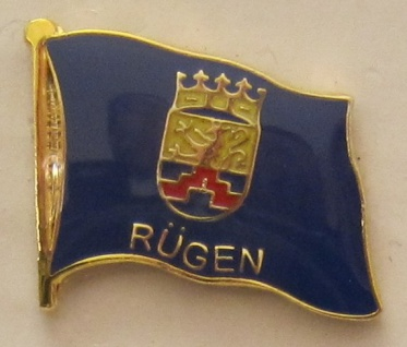 Pin Anstecker Flagge Fahne Rügen Inselfahne