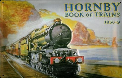 Blechschild Nostalgieschild Hornby book of trains 1938-9 Eisenbahn