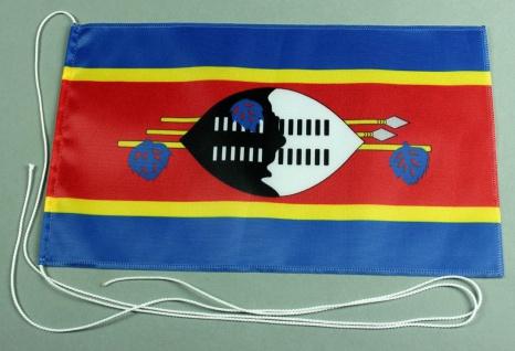 Tischflagge Swasiland 25x15 cm optional mit Holz- oder Chromständer Tischfahn...