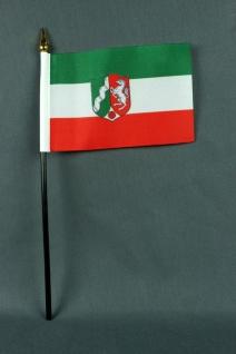 Kleine Tischflagge Nordrhein Westfalen NRW 10x15 cm optional mit Tischfähnche...