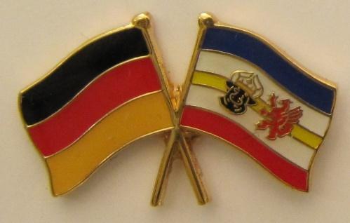 Mecklenburg Vorpommern / Deutschland Freundschafts Pin Anstecker Flagge Fahne...