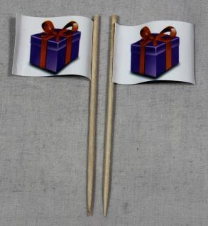 Party-Picker Flagge Geschenk Paket Papierfähnchen in Spitzenqualität 50 Stück...