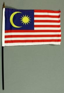 Tischflagge Malaysia 25x15 cm BASIC optional mit Tischflaggenständer