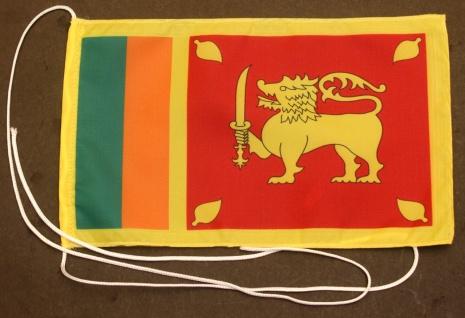 Tischflagge Sri Lanka 25x15 cm optional mit Holz- oder Chromständer Tischfahn...