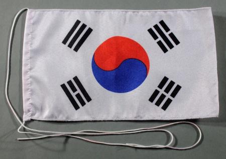 Tischflagge Süd Korea Südkorea 25x15 cm optional mit Holz- oder Chromständer ...