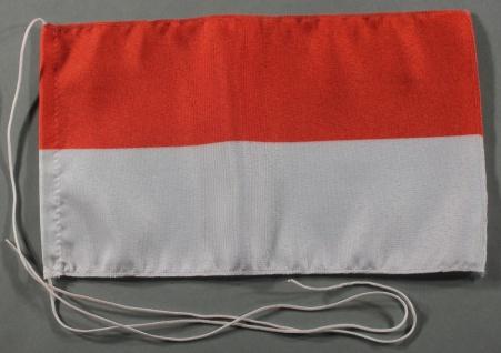 Tischflagge Monaco Monte Carlo 25x15 cm optional mit Holz- oder Chromständer ...