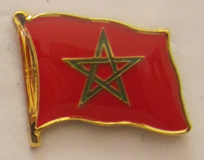 Marokko Pin Anstecker Flagge Fahne Nationalflagge
