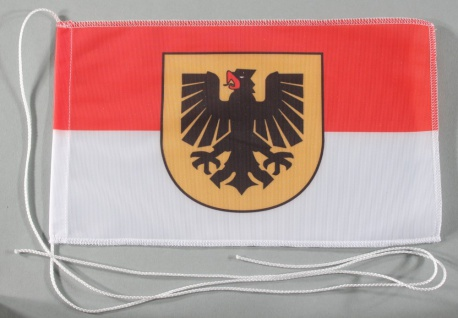 Tischflagge Dortmund Stadtflagge 25x15 cm optional mit Holz- oder Chromstände...