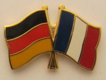 Frankreich / Deutschland Freundschafts Pin Anstecker Flagge Fahne Nationalflagge