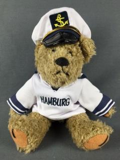"Hamburg Teddy Bär im Matrosenhemd "" Hamburg"" Kuscheltier - Vorschau"