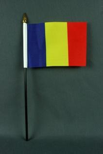 Kleine Tischflagge Rumänien 10x15 cm optional mit Tischfähnchenständer