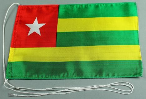 Tischflagge Togo 25x15 cm optional mit Holz- oder Chromständer Tischfahne Tis...